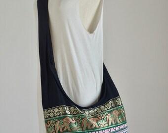 Elephant Hill Tribe Bag Cotton Boho Bag Hippie Bag Indy Cross Body Bag Handbags Women Shoulder Bag Messenger Bag Purse Gift EL23