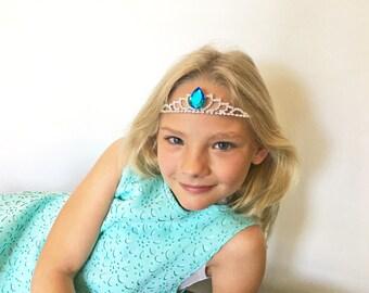 Princess Tiara- Crystal Teardrop Princess Tiara-Child's Tiara-Rhinestone Tiara-Princess Crown