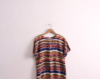 Painterly Striped 90s Blouse