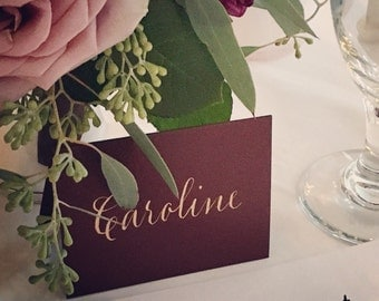 Hand Calligraphy for Wedding Name Place Cards & Escort Cards   Table Numbers and Envelope Addressing Also Available