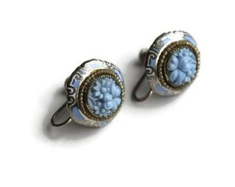 Vintage Floral Screwback Earrings
