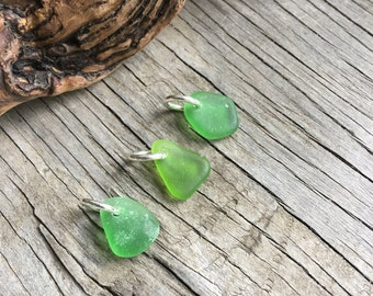 Green Gables, Drilled Sea Glass, Beach Glass, Beach Jewelry Finding, Dangle Beads, Real, Seaglass, Jewelry Supplies, Natural, Elfen Forest