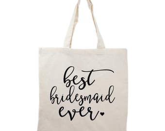 Bridesmaid Tote Bag Gift, Bridal Party Tote Bags, Wedding Canvas Bags, Bridesmaid Gifts, Mother of Bride/Groom Gifts, Maid of Honor Gift