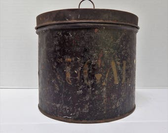 Antique Tin Sugar Canister
