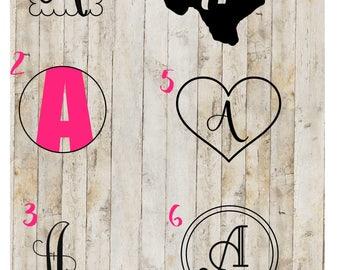 Single Initial Monogram, Vinyl Monogram, Monogram Decal, Initial Decal, Yeti Decal