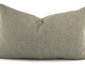 Black & Tan Woven Diamond Design Lumbar Throw Pillow Cover, 12x20