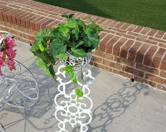 Vintage Wrought Iron Plant Stand Planter Small Outdoor Planter