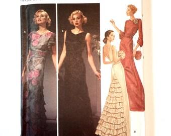 Simplicity 5876, Women's Evening Gown Pattern, Wedding Gown, Bridesmaids' Dress, Prom Dress, Art Deco, Retro 1920's, Size 14-20 Uncut