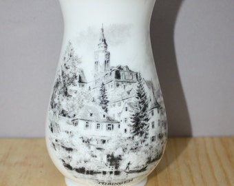 KAISER VASE, Made in W. Germany featuring the Town of Tubingen