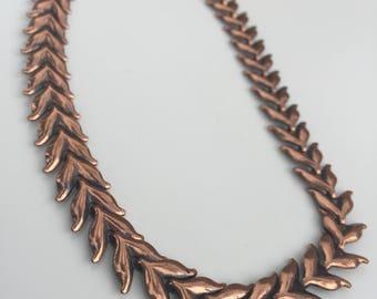 Vintage Copper Necklace by Renoir -- Elegant Design, Adjustable Length