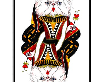 The Queen of Hearts Print