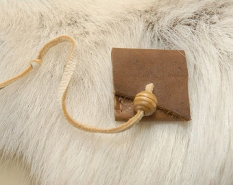 Plain Brown leather pouch, mini pouch
