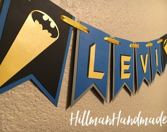 Batman Banner, Batman Birthday Banner, Batman Party Banner, Superhero Banner