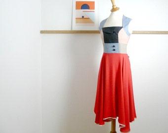Size L/XL - Swing Dress in Sunset Orange