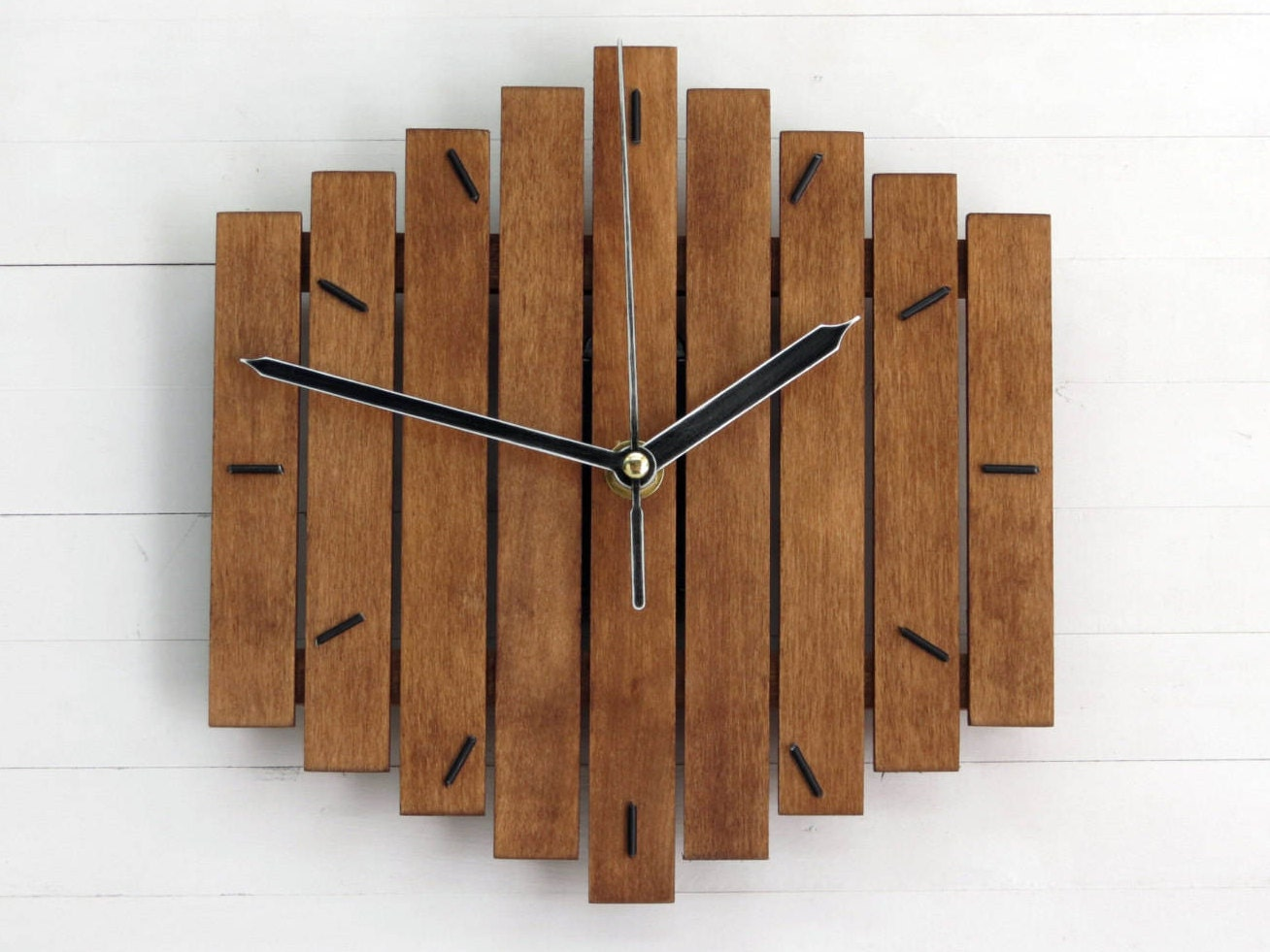 Wooden clock wall clock wood wall clock modern wall clock zoom amipublicfo Image collections