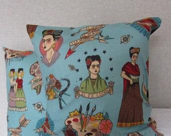 Frida kahlo, the artist, cushion cover