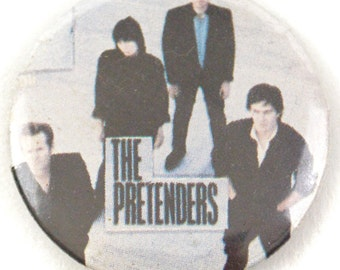 Vintage 80s The Pretenders Learning to Crawl Pinback Button Pin Badge