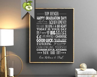 Graduation sign, Graduation Chalkboard Sign, Graduation Party, Decoration Poster,  Memories, student, High School College, Digital printable