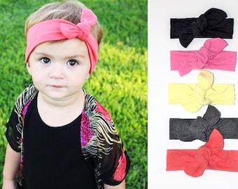 Baby girl headband, solid knot headband, baby girl head wrap, baby girl hair bows, girls headband, girls hair bows, girls hair accessories
