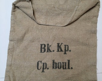 Vintage European Grain Sack from 1943 in Excellent Condition (X4280)