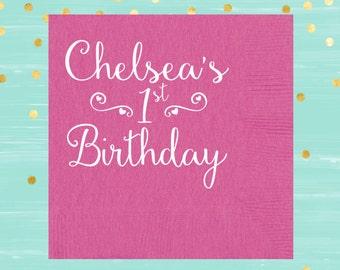 1st Birthday Napkins, Kids Napkins, Birthday Party Napkins, Birthday Decor, Beverage Napkins, Custom Napkins, Kids Birthday Decor, Lunchbox