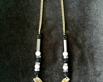 Big V shaped pendant, gold v shaped necklace, gold silver necklace, Geometric gold necklace, white silver gold, long v necklace