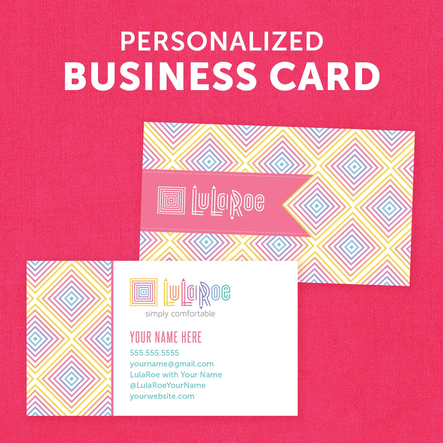 Lularoe personalized business card by yournetworkdesigns for Etsy lularoe business cards