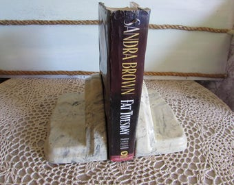 Vintage Pair of Onyx/Marble Bookends.