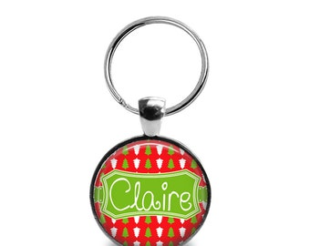 "Pet ID Tag | ""Claire"" - Mini Christmas Trees"