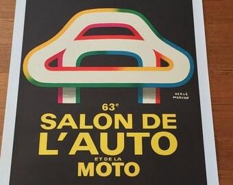 Original Vintage French Poster SALON DE L'AUTO 1976