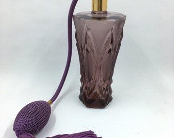 Holmspray Purple Glass Perfume Bottle Atomizer