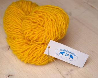 Organic wool yarn, sheep wool yarn, yellow wool yarn, Scandinavian Fabric