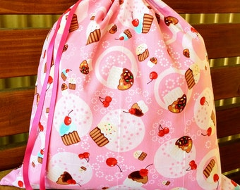 Childrens Library Bag - Cupcakes with Sprinkles.