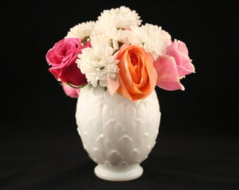 Imperial Milk Glass Vase, Imperial Glass Artichoke Vase, Milk Glass Artichoke Vase, Wedding Centerpiece, Wedding Decor