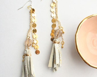 The Leather Tassel Party Dangles