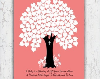 """Baby Shower Guest Book, Printable File 11x14"""""""