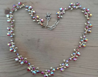 Vintage pink sparkly rhinestone necklace