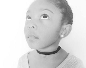 Velvet Choker| Kids Choker| Girls Velvet Chokers| Kids Jewelry| Kids Necklace