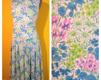 Vintage '60s floral Dress, Size Medium