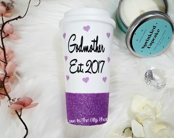 Godmother Gift, Best Godmother, Will You Be My Godmother, Godmother Mug, God Mother Mug, Custom Glitter Mug, Godmother Glitter Mug