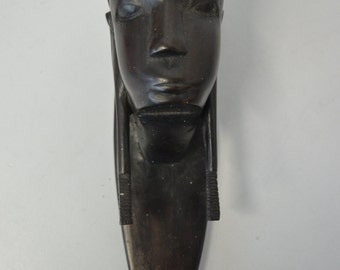 African ebony head from Durban of the 70s