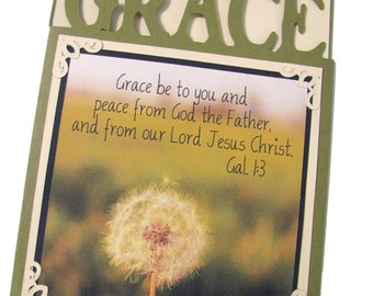 GRACE CHRISTIAN Greeting Card - Unique Hand Crafted Scripture Verse Encouragement Card
