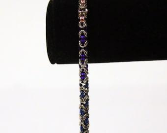 Pride Collection - Bisexual Pride Byzantine Bracelet