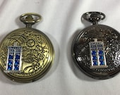 Gallifreyan Timelord TARDIS - Doctor Who - pocket watch