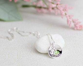 First Communion Gift, 1st Communion Gift, Confirmation Gift Personalized Kids Jewelry Personalized Jewelry for Kids Name and Birthstone
