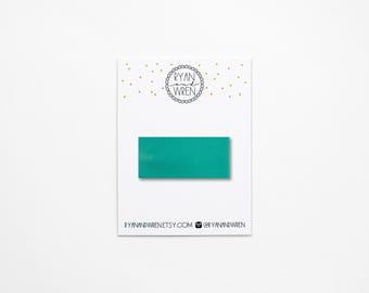 Sea foam leather snap clip