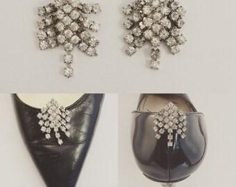 Vintage Bluette Rhinestone Shoe Clips