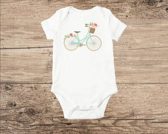 Bicycle Baby Clothes, Bicycle T Shirt in Mint