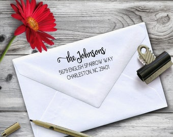 Custom Pre-Inked Stamp, Pre Inked Return Address Stamp, Custom Realtor Gift, Personalized Housewarming Gift