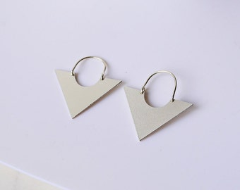 Triangle earrings, geometric earrings, geometric jewelry, sterling silver